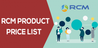 rcm product price list