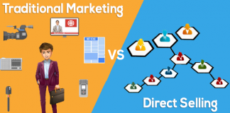 traditional marketing vs direct selling